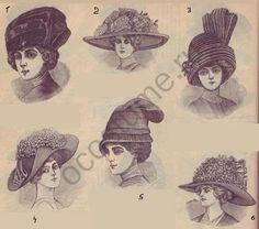 Мода в России на женские шляпы. 1912 год   История костюма