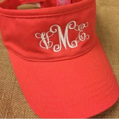 Monogrammed Visor  $19.95 Love these because everybody can't wear caps!