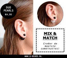 NIEUW! Onze collectie is aangevuld met Duo Pearls! Onze Duo Pearls zijn verkrijgbaar in verschillende kleuren die je op verschillende manieren kunt dragen en combineren. Creëer er op los dames! http://www.u-beads.nl/c-2809292/nieuw/ Op werkdagen voor 16.00 uur besteld, dezelfde dag verzonden. Altijd GRATIS verzending binnen NL en BE!