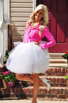 pink + tutu = Bachelorette Party outfit perfection