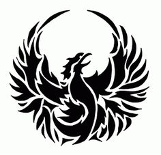 Phoenix Bird Stencil What size? Read How Stencil Sizes are Determined What material? Tribal Phoenix Tattoo, Phoenix Tattoo Design, Tribal Tattoos, Phoenix Tattoos, Bird Stencil, Stencil Art, Phoenix Bird Images, Tatoo Simple, Graffiti