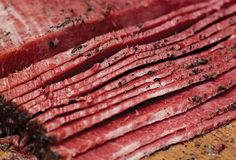 This homemade pastrami recipe, made with beef and spices, can be steamed in the oven and doesn't require a smoker. Easy DIY pastrami.