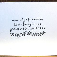 Lovely leaves - my fave stamp so far. Custom Return Address Stamp  Ferns by tinoiseau on Etsy, $35.00