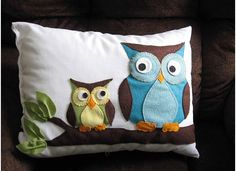 owl pillow -- must make for apartment