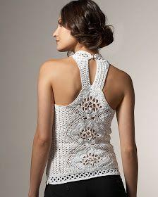 Outstanding Crochet: Oscar de la Renta. Snow-white Crocheted Duo.