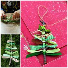 Scrap ribbon ornament
