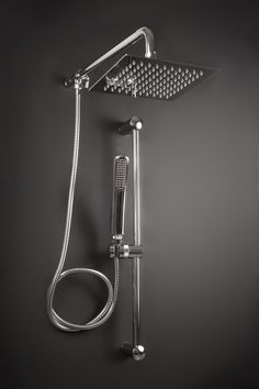 Modern Wall Mount Shower Faucet Mixer Tap W/ Rain Shower Head ...