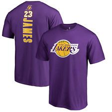 40ac12f8a LeBron James Los Angeles Lakers LA  23 NBA Fanatics Purple T-Shirt Backer  Jersey
