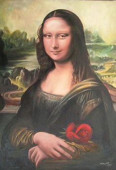 Mona Lisa with Rose [Ahmed Hussein on FLICKR] (Gioconda / Mona Lisa)