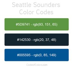 Seattle Sounders Color Palette Crochet In 2019 Seattle