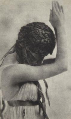 Baron Adolph de Meyer. Maenad dancing from Nijinsky, L'Après-midi d'un Faune  1912.