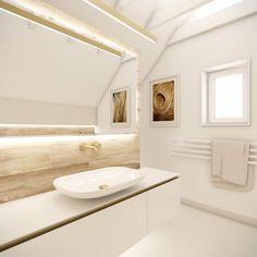 Guest suite bathroom | by CADFACE Guest Suite, Interiores Design, Alcove, Bathroom Lighting, Bathtub, Interiors, Mirror, Furniture, Home Decor