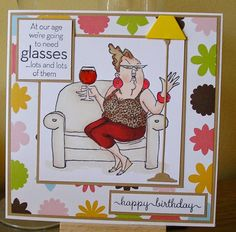 julieanne's cabin: More Glasses. Wind And Rain, Happy Birthday, Challenges, Cabin, Glasses, My Love, People, Blog, Crafts