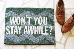 Sincerely, Kinsey: Won't You Stay Awhile? | Rug DIY