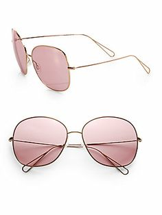 1fc65733d9 ISABEL MARANT PAR OLIVER PEOPLES - Daria Oversized Metal Sunglasses
