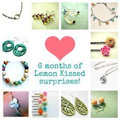 6 month Lemon Kissed Jewelry Club subscription Lemon Kissed