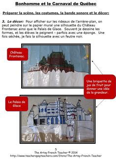 This NEWLY REVISED 8 page skit about the Quebec Winter Carnival is part of a 32 page resource, www.teacherspayte... including Learning Goals, Rubrics, Letter to parents, Suggestions for backdrops, costumes, la ceinture fléchée, background music, 35 Word Wall Words. IN FRENCH.