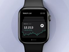 Trading app for apple watch designed by Robin Holesinsky. Connect with them on Dribbble;