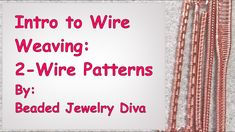 Wire Weaving Patterns Tutorial: Learn 5 wire weaving patterns that all use 3 base wires! Have fun practicing with these wire weaving patterns,, as we'll be u. Wire Jewelry Patterns, Wire Jewelry Designs, Handmade Wire Jewelry, Diy Jewelry, Jewlery, Wire Jewellery, Metal Jewelry, Gold Jewelry, Beaded Jewelry