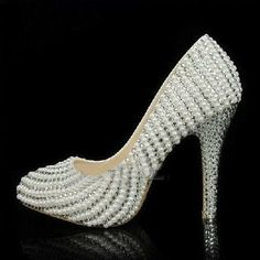 86c174992f5286 custom bridal shoes pearl wedding shoes bling by luxuryshow2828