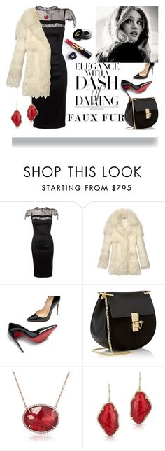 """""""• Dash Of Darling •"""" by fashion-fields-forever ❤ liked on Polyvore featuring Nicole Coste, STELLA McCARTNEY, Christian Louboutin, Chanel, Chloé, Anne Sisteron and Gucci"""