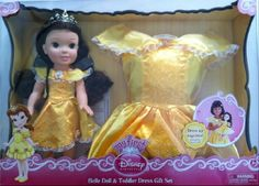 My First Disney Princess-Belle Doll and Toddler Dress Set