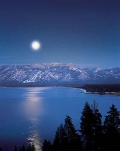 Lake Tahoe....what a romantic view me and John love going for walks the stars are amazing !! Can't wait to go up for New year !