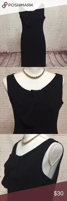 Talbot Sheath Dress Size 6 Petite EUC ▪️Talbots 045 ▪️This chic dress is qualified to help you handle whatever comes your way, interviews, meetings, coffee dates, you name it! Black with cute bow detail at neck, fully lined well tailored.  ▪️Measurements: laying flat Length approx. 38  inches, Armpit to armpit approx. 18 inches waist approx. 16 Inches  ▪️Size 6 Petite  ▪️Bundle and save!   Please see all pics, read description and ask questions before purchasing.  Same day shipping during…