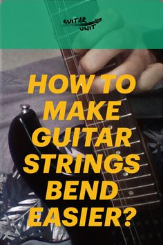String bending is essential guitar technique. However, you're going to struggle with it at first. This article gives you essential tips and tricks on how to bend strings properly and with ease. Check it out. Guitar Solo, Guitar Tips, Guitar Strumming, Easy Guitar, Guitar For Beginners, Guitar Strings, Bending, Playing Guitar, Guitars