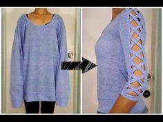 DIY Camisetas Customizadas - Cortada e Trabalhada nas Costas - DIY T-shirt - Como Fazer - YouTube