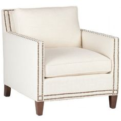 Gabby Carter Chair ($1,448) ❤ liked on Polyvore featuring home, furniture, chairs, accent chairs, nailhead trim chair, nail head chair, nailhead chair, nailhead accent chair and nailhead furniture