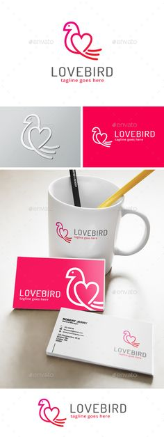 Love Bird Logo — Vector EPS #apparel #forum • Available here → https://graphicriver.net/item/love-bird-logo/13389671?ref=pxcr