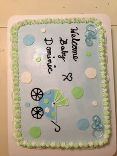 Baby boy shower cake Baby Shower Niño, Baby Shower Cakes For Boys, Simple Baby Shower, Baby Showers, Cupcake Ideas, Dessert Ideas, Cupcake Cakes, Cupcakes, Blue Cakes