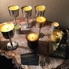 testing the bees wax container candles