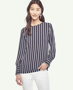 I like this style of blouse, not necessarily the stripes