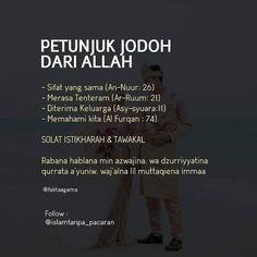 Petunjuk jodoh Quotes Rindu, Hadith Quotes, Muslim Quotes, Words Quotes, Life Quotes, Wisdom Quotes, Famous Quotes, Daily Quotes, Beautiful Quran Quotes