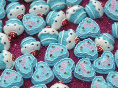 CandyCabsUK 10 Pcs Cute Blue CupCake Muffin MIX Cabochon Kawaii Flatback DIY | eBay