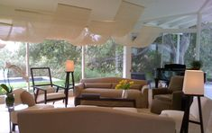California Contemporary by Rozalynn Woods Interior Design - Living Area with Modern Sofas