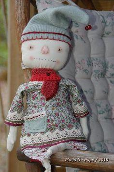 primitive doll by maija007, via Flickr