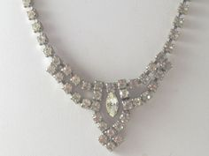 Vintage Clear Rhinestone Choker Necklace by delightfullyvintage