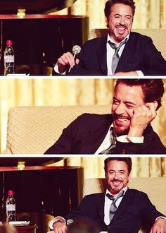 Hahaha, what I love about Downey is that he isn't only hilarious in movies, he's hilarious without them!