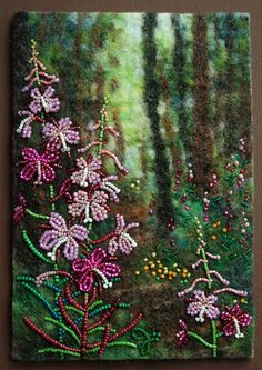 Large photo of Late Summer Trail Felted Soap, Wool Felting, Jo Wood, Seed Bead Art, Fiber Art Quilts, Indian Beadwork, Beaded Crafts, Diy Crafts, Crow Art