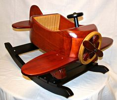 Premium Wood Airplane Rocker. MUST. OWN. THIS.
