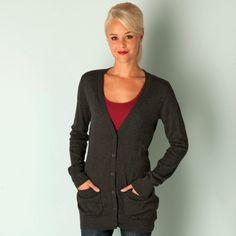 Women | Black Marl Womens Fancy That Knit Cardigan | Get The label Black Cardigan, Knit Cardigan, Top Designer Brands, Discount Designer, Tights, Fancy, Blazer, Knitting, Sweaters