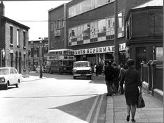 Used to catch the bus outside Lennons to go to my Gran's in Dentons Green.seems such a long time ago. St Helens Town, Saint Helens, Barnsley, Back In The Day, Old Pictures, Street View, England, Memories, History