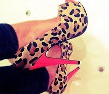Inspiring image high heels, shoes, pink, heels, style, leopard print, fashion #1079980 by korshun. Resolution: 500x500px. Find the image to your taste!