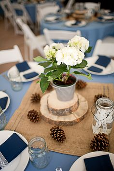 simple; guests could take potted plant