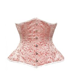 GE-292 - Red and Silver Brocade Underbust - #corset #corsetsuk #red #silver #brocade #underbust #curvy - £60