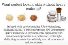 So you've been using Rodan + Fields for a few months now and now you barely need makeup?? Try the mineral peptide line of powders for perfect coverage as well as some additional sun protection. I use it and LOVE it!! ☺