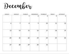 December 2020 Printable Calendar Free Template PDF - Free Printable Blank Holidays Calendar Wishes Images Template Calendar 2019 Printable, 2020 Calendar Template, Print Calendar, Printable Planner, Free Printables, November Calendar, 2021 Calendar, January, Der Plan